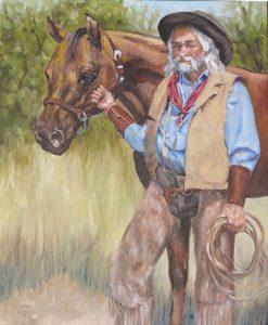 Cowboy and horse 72dpi